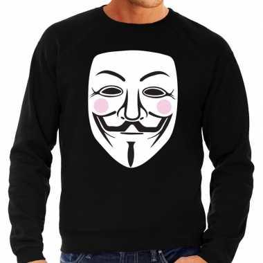 Vendetta masker trui zwart heren