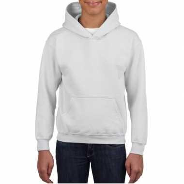 Witte capuchon trui voor jongens