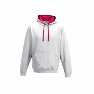 Witte trui roze capuchon dames