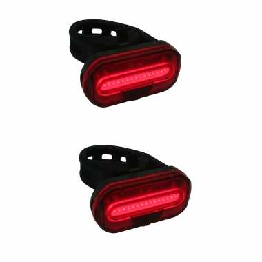X fietsachterlichten / batterijachterlichten fietsverlichting cob led betruiigingsband