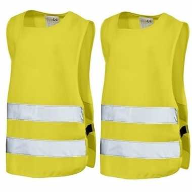 X geel veiligheids trui kids jaar