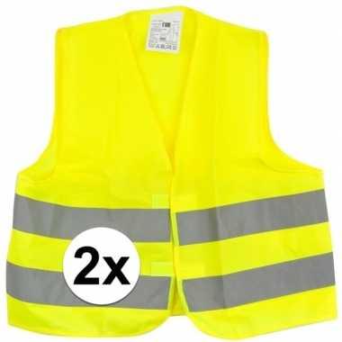 X gele veiligheidstruien kinderen