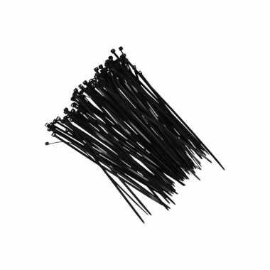 X kerstversiering ophang/betruiiging materiaal tiewraps zwart