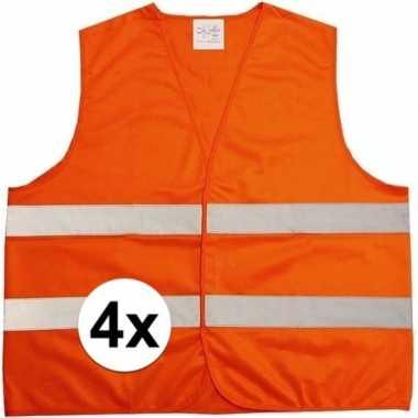 X oranje veiligheidstruien volwassenen