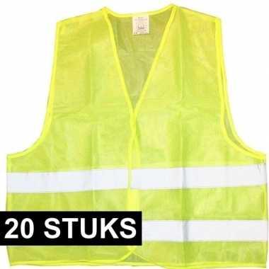 X veiligheidstrui fluorescerend geel volwassenen