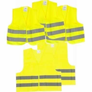 X veiligheidstruien/hesjes geel volwassenen/kinderen