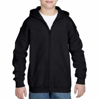 Zwart capuchon trui jongens