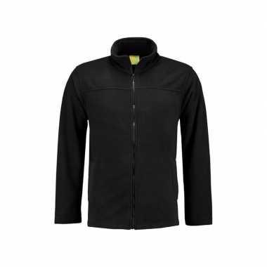 Zwart fleece trui rits volwassenen
