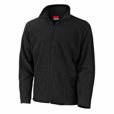 Zwart fleece trui viggo heren