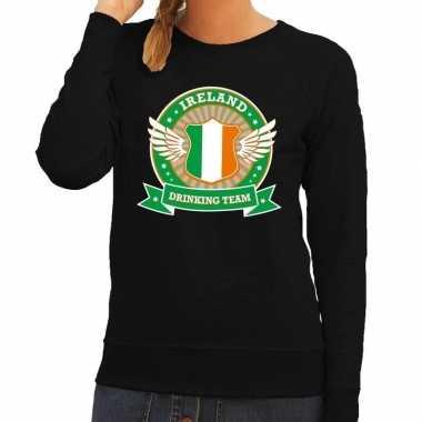 Zwart ireland drinking team trui dames