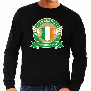 Zwart ireland drinking team trui heren