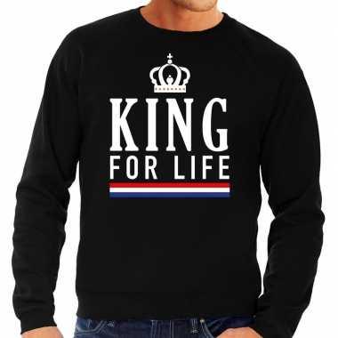 Zwart king for life trui heren