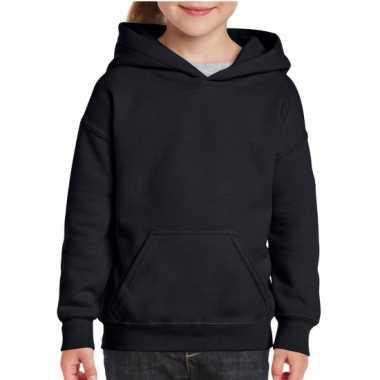 Zwarte capuchon trui voor meisjes