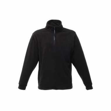 Zwarte grote maten fleece trui thor
