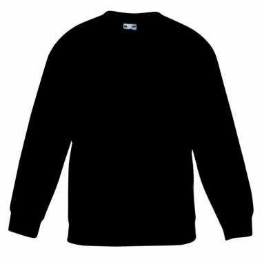 Zwarte katoenmix trui voor meisjes