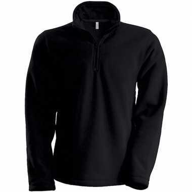 Zwarte micro polar fleece trui heren
