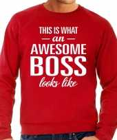 Awesome boss baas cadeau trui rood heren