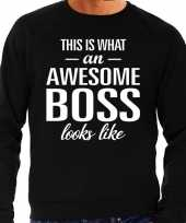 Awesome boss baas cadeau trui zwart heren