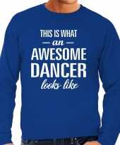 Awesome dancer danser cadeau trui blauw heren