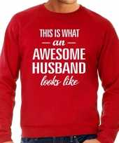 Awesome husband echtgenoot cadeau trui rood heren