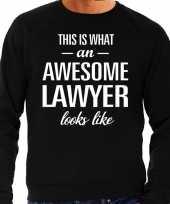 Awesome lawyer advocaat cadeau trui zwart heren