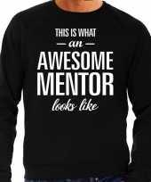 Awesome mentor leermeester cadeau trui zwart heren