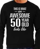 Awesome year jaar cadeau trui zwart heren 10195906