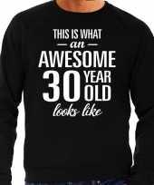 Awesome year jaar cadeau trui zwart heren 10195908