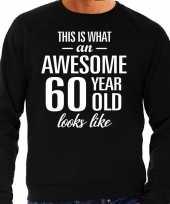 Awesome year jaar cadeau trui zwart heren 10195911