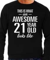 Awesome year jaar cadeau trui zwart heren