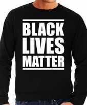 Black lives matter demonstratie protest trui zwart heren