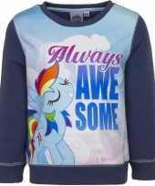 Blauwe my little pony trui voor meisjes
