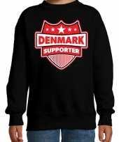 Denemarken denmark schild supporter trui zwart kinder