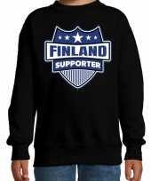 Finland schild supporter trui zwart kinder
