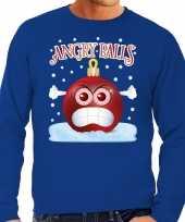 Foute kerst trui trui angry balls blauw heren
