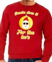 Foute kersttrui kerstman does it for the ho s rood heren