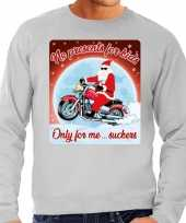 Foute kersttrui motorliefhebbers no presents grijs heren