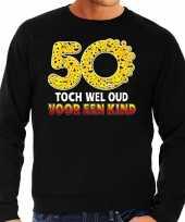 Funny emoticon trui toch wel oud een kind zwart heren