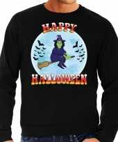 Happy halloween heks verkleed trui zwart heren