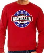 Have fear australia is here australie supporter trui rood heren