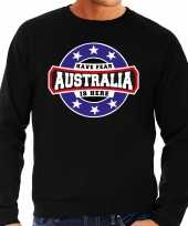 Have fear australia is here australie supporter trui zwart heren