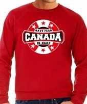 Have fear canada is here canada supporter trui rood heren