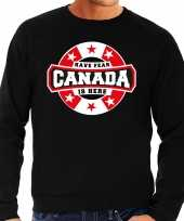 Have fear canada is here canada supporter trui zwart heren