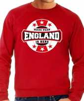 Have fear england is here engeland supporter trui rood heren