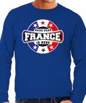 Have fear france is here trui frankrijk supporters blauw heren