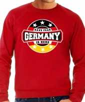 Have fear germany is here duitsland supporter trui rood heren