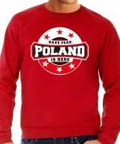 Have fear poland is here polen supporter trui rood heren