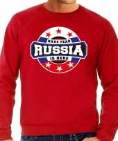 Have fear russia is here rusland supporter trui rood heren