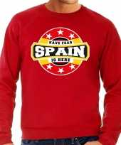 Have fear spain is here trui spanje supporters rood heren