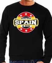 Have fear spain is here trui spanje supporters zwart heren